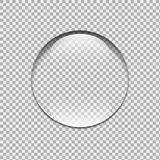 Gota da água Cristal na areia bolha ilustração stock