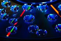 Gota da água do CD da música fotografia de stock