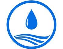 Gota da água e onda azul Fotos de Stock Royalty Free