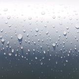 Gota da água no metal Fotografia de Stock