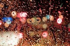Gota da água no vidro Imagens de Stock