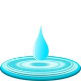 Gota da água. vetor Imagem de Stock Royalty Free