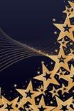Gota da onda do lado da estrela do ouro Fotos de Stock Royalty Free