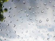 Gota de agua en la ventana Imagen de archivo libre de regalías