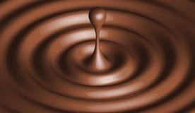 Gota de chocolate Fotografia de Stock