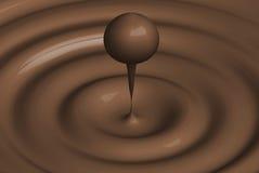 Gota de chocolate Imagenes de archivo