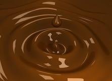 Gota de chocolate descendente Fotografía de archivo libre de regalías