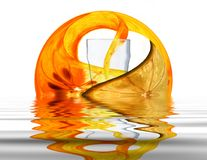 Gota de fruta Imagens de Stock Royalty Free