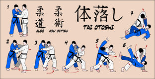 Gota de la carrocería del judo Fotografía de archivo libre de regalías