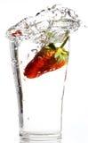 Gota de la fresa Fotografía de archivo