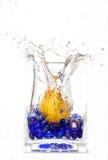 Gota de la pera Imagen de archivo libre de regalías