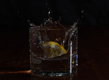 Gota de limão Imagem de Stock