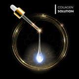Gota de oro superior de suero Colágeno con el dropper libre illustration