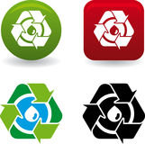 Gota de Reciclar (vetor) Imagem de Stock