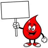 Gota de sangre con la muestra ilustración del vector