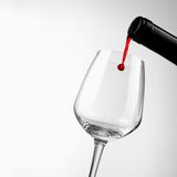 Gota del vino Fotografía de archivo