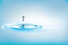 Gota descendente del agua
