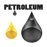Gota do óleo de petróleo no fundo branco Imagens de Stock