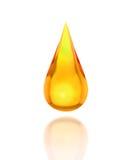 Gota do óleo no branco Fotos de Stock Royalty Free
