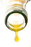 Gota do suco de laranja Fotografia de Stock