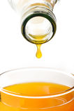 Gota do suco de laranja Foto de Stock Royalty Free