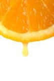 Gota do sumo de laranja Fotos de Stock Royalty Free