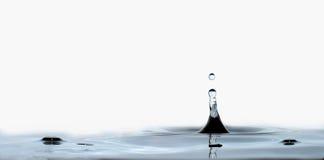 Gota e respingo da água fotografia de stock