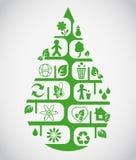 Gota ecológica Imagen de archivo libre de regalías