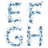 Gota EFGH da água do alfabeto Fotos de Stock Royalty Free