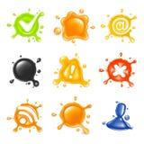 Gota, jogo do ícone Fotografia de Stock