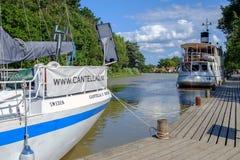 Gota-Kanal während des Sommers Lizenzfreie Stockfotografie