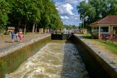 Gota-Kanal während des Sommers Lizenzfreie Stockfotos