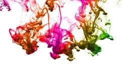 Gota multicolora de la tinta Fotos de archivo libres de regalías