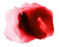 Gota sangrienta de la acuarela roja stock de ilustración