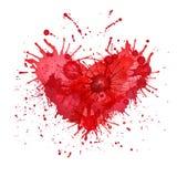 Gota sob a forma do coração Fotografia de Stock Royalty Free