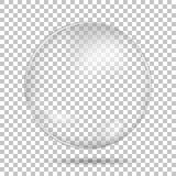 Gota transparente com sombra Fotos de Stock Royalty Free