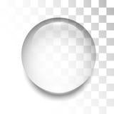 Gota transparente com sombra e reflexão ilustração stock