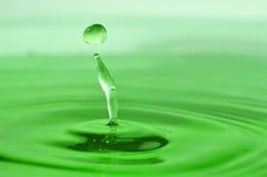 Gota verde Foto de Stock Royalty Free