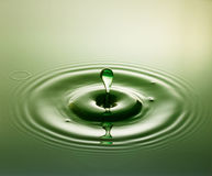 Gota verde imagem de stock