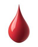 Gota vermelha da pintura Imagens de Stock Royalty Free