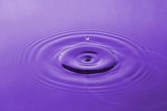 Gota violeta da água Foto de Stock
