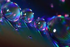 Gotas abstratas fotografia de stock