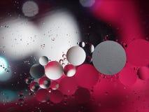 Gotas abstratas da fotografia do óleo na água Imagens de Stock
