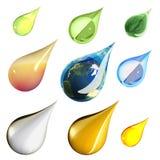 Gotas ambientais Imagens de Stock