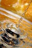 Gotas anaranjadas. foto de archivo libre de regalías