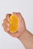Gotas anaranjadas Imagen de archivo libre de regalías