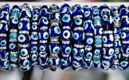 Gotas auténticas del ojo de Nazar del turco Fotografía de archivo libre de regalías