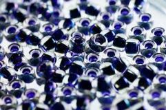 Gotas azul marino del toho con color interior Imagen de archivo