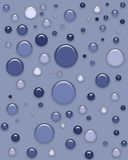 Gotas azules del gel Foto de archivo libre de regalías