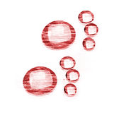 Gotas bajo la forma de pistas Imagen de archivo libre de regalías